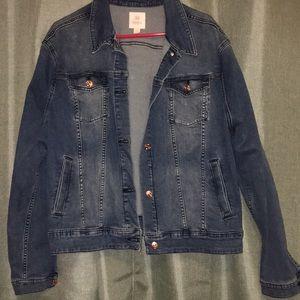 NEw! LulaRoe Harvey Plain Denim Jacket 3XL